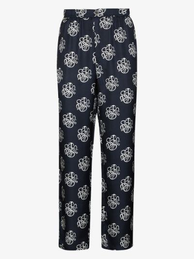 Fadi printed silk trousers