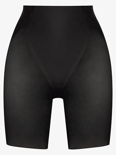 Black Haute Contour mid-thigh shorts