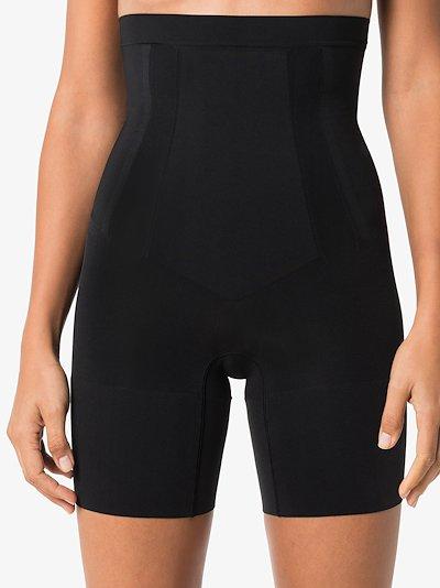 Black OnCore high waist mid-thigh shorts
