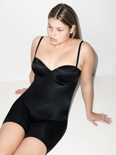 Black Suit Your Fancy mid-thigh bodysuit