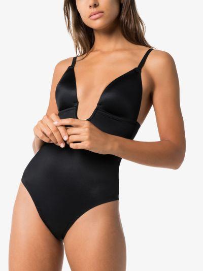 Black Suit Your Fancy thong bodysuit