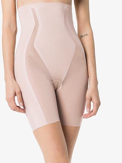 Neutral Haute Contour high waist mid-thigh shorts