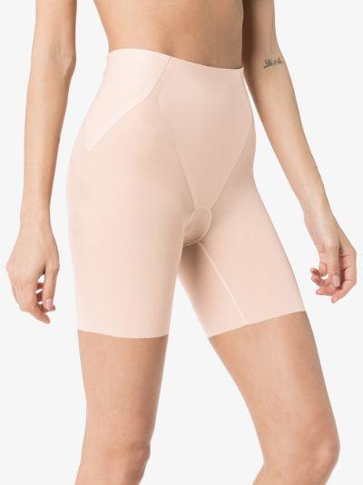 Neutral Haute Contour mid-thigh shorts