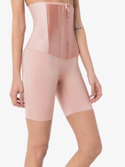 pink under sculpture waist cincher shorts
