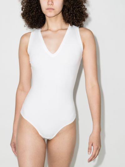 Suit Yourself V-neck tank bodysuit