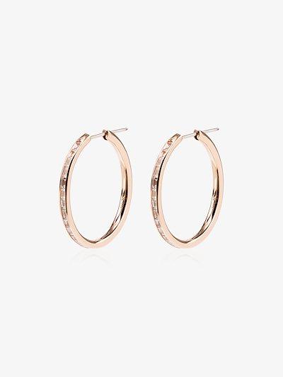 18K rose gold Miri diamond hoop earrings
