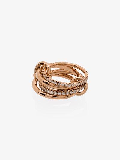18K Rose Gold Polaris Diamond linked Rings