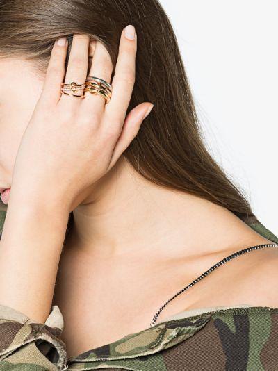 18K rose gold Sonny diamond linked rings