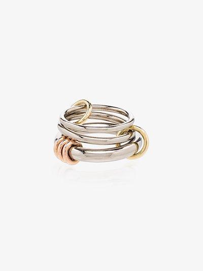 18K white gold Orion linked rings