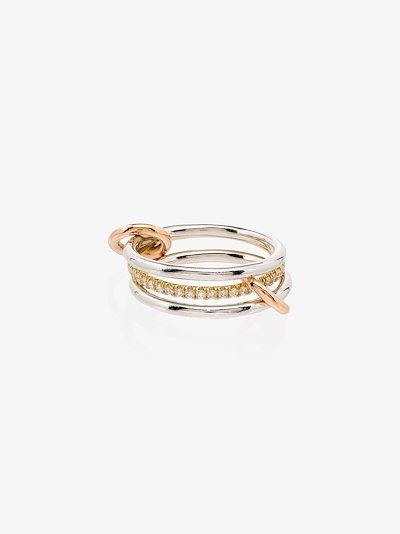 18K white gold Sonny diamond link ring