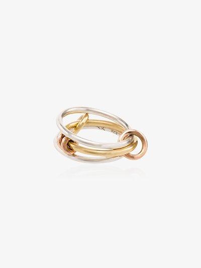 18K yellow and rose gold Acacia linked rings