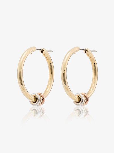 18K yellow and rose gold Argo diamond hoop earrings