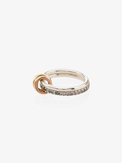 18K yellow gold Marigold diamond linked rings