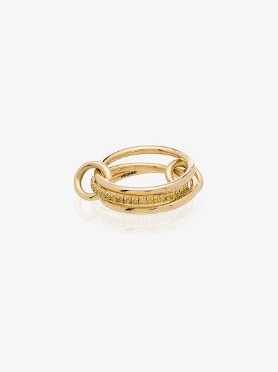18K yellow gold Sonny diamond linked rings