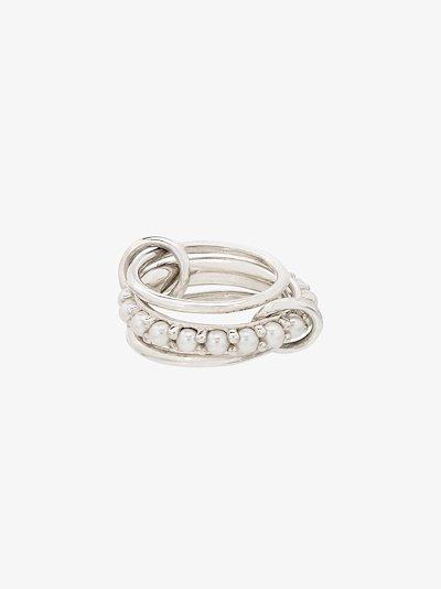 Sterling silver Akoya pearl ring
