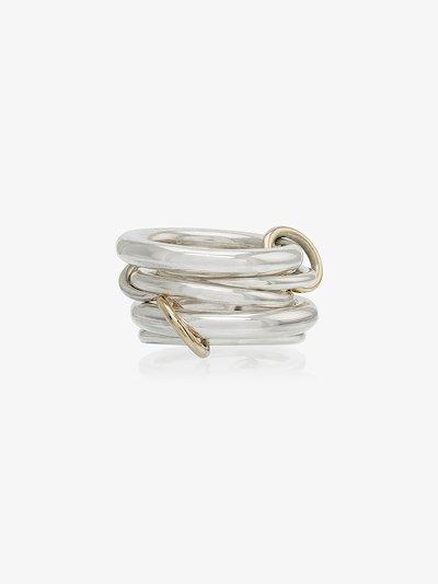 sterling silver Vela linked rings