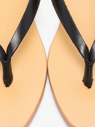 black Basik leather sandals