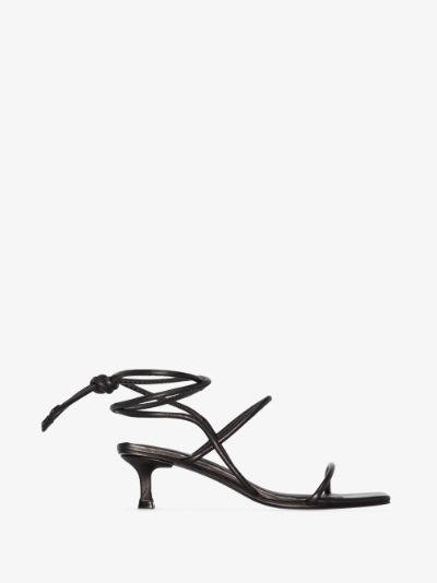 black Cora 50 leather sandals