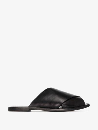 black Gulliver leather sandals