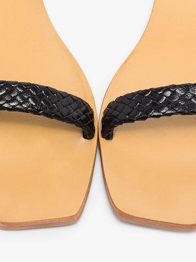 black Juliet woven strap sandals