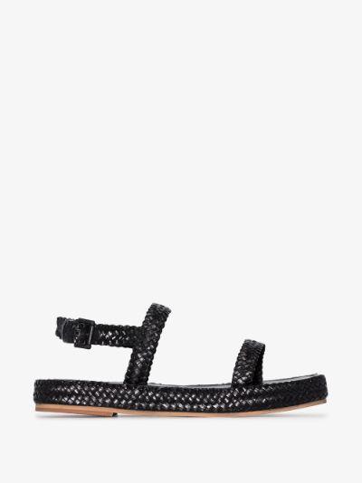 Black Lori woven leather sandals