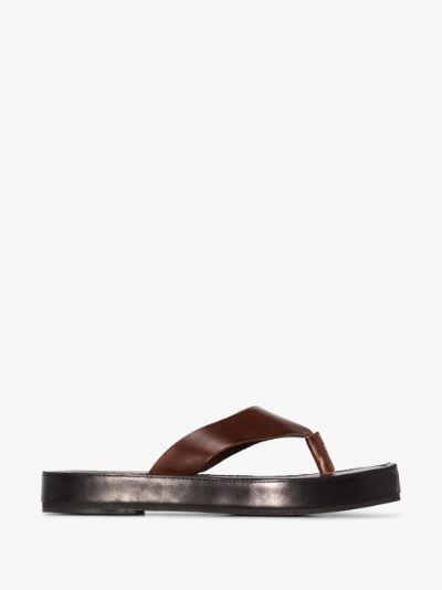 Black Oliver leather sandals