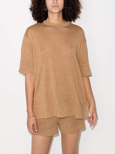 Copain Linen Short Sleeve T-Shirt