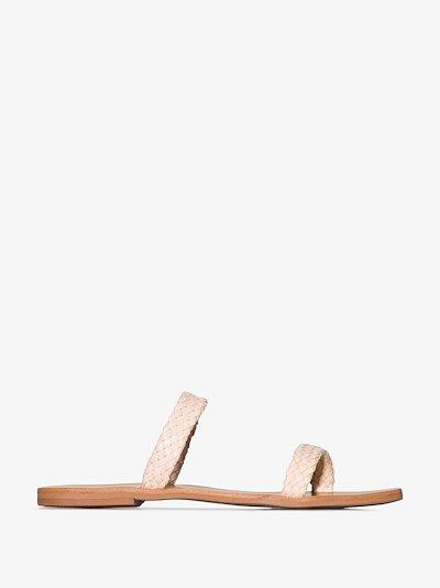 cream Juliet woven strap sandals