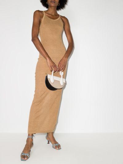 Iman knitted linen midi dress