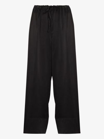 Norma wide leg tie waist trousers