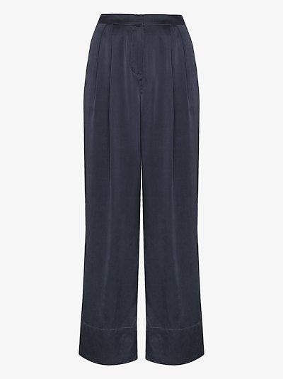 Patti wide leg silk trousers