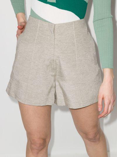 Pierre pintuck shorts
