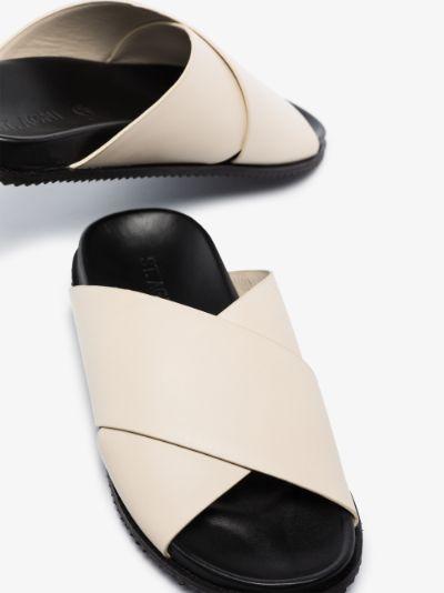 White Arne leather sandals