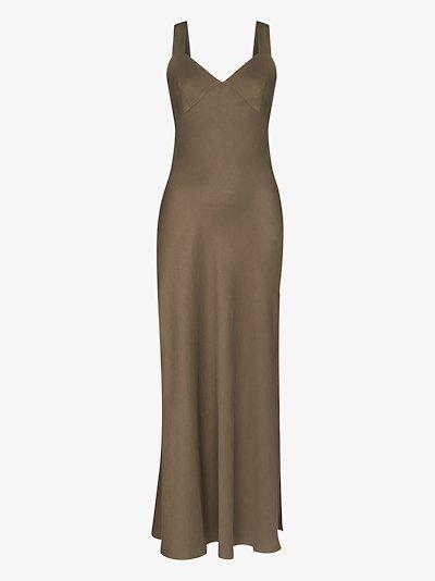 Zoe open back slip dress