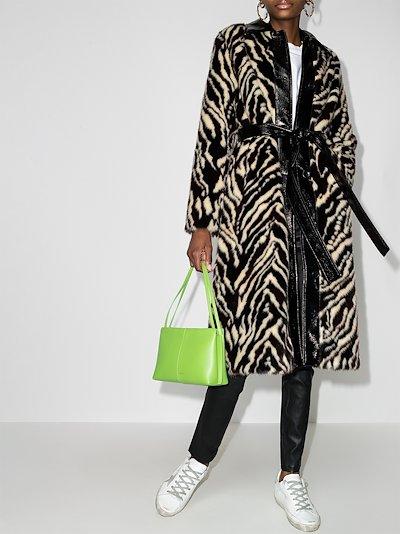 Aurora faux fur midi coat