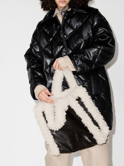 black Lolita faux shearling tote bag