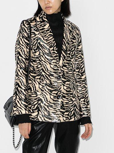 Catherine zebra print blazer