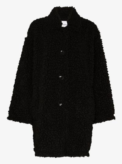 Jacey faux shearling teddy coat