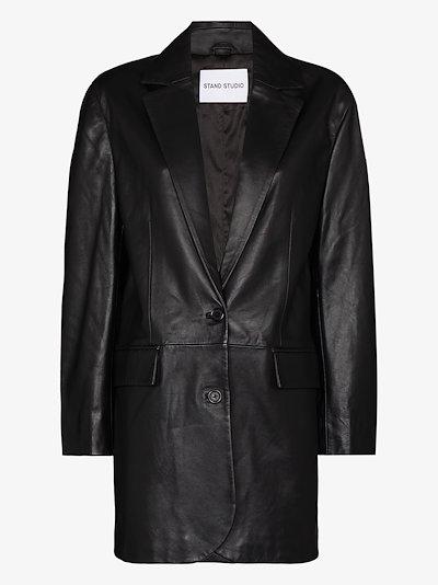 Juniper leather blazer jacket