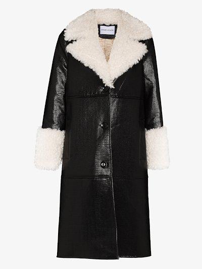 Linda faux leather coat