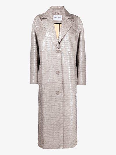 Mollie mock croc coat