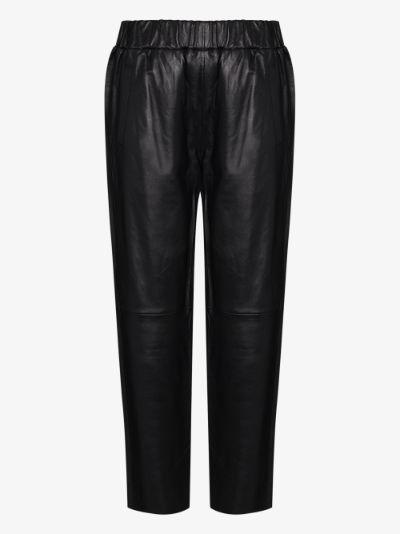 Noni leather track pants