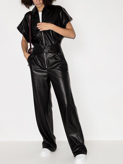 Waverly faux leather jumpsuit