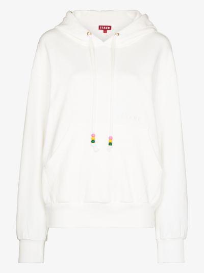 beaded cord hoodie