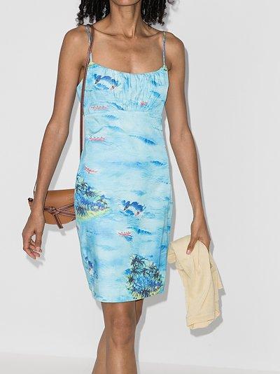 Bell island print mini dress