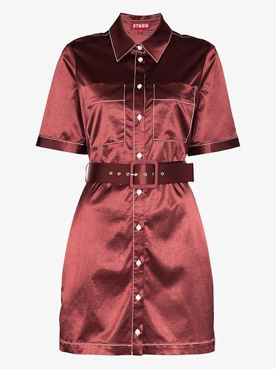 Bentley belted shirt dress