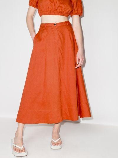 Cybele linen midi skirt