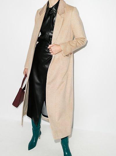 Ganji houndstooth single-breasted coat