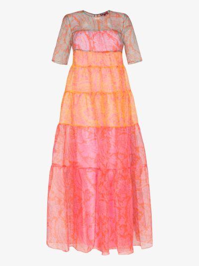 Hyacinth Printed Organza Maxi Dress