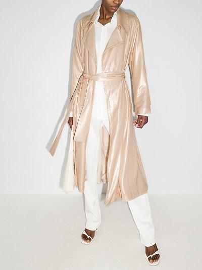 Laurent sequinned trench coat